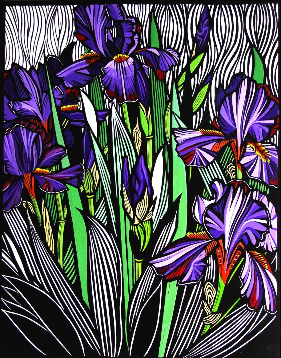 Iris | 65cm w x 85cm h