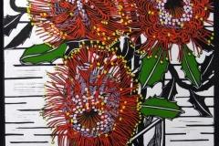 Banksia Coccinea | 40cm w x 58cm h