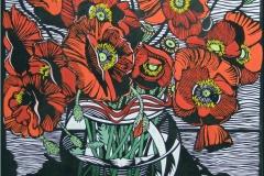 Field Poppies | 80cm w x 80cm h