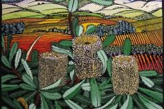 Vale Banksias | 75cm w x 57cm h | Sold out