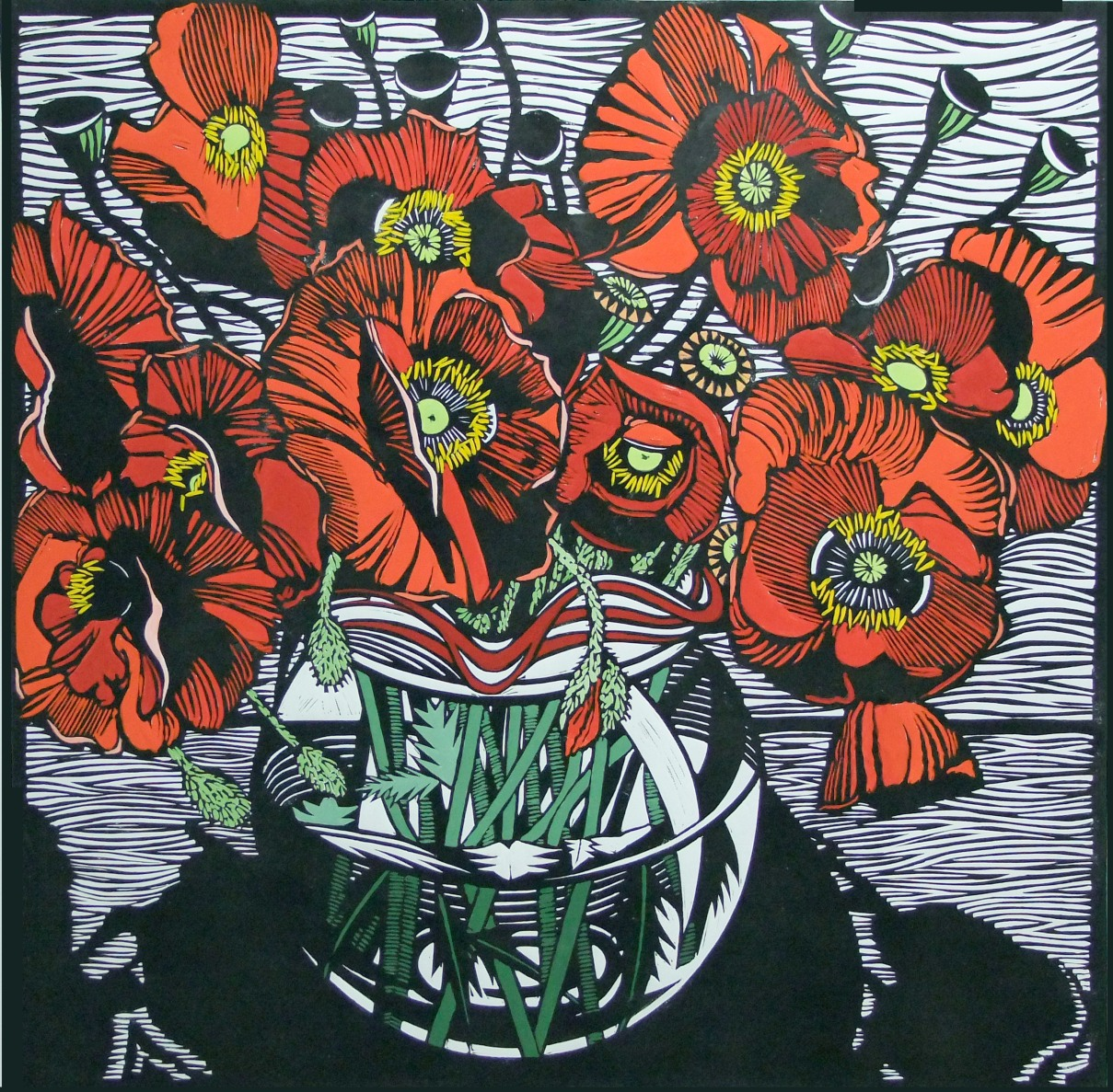 Field Poppies | 80cm w x 80cm h | $900 unframed