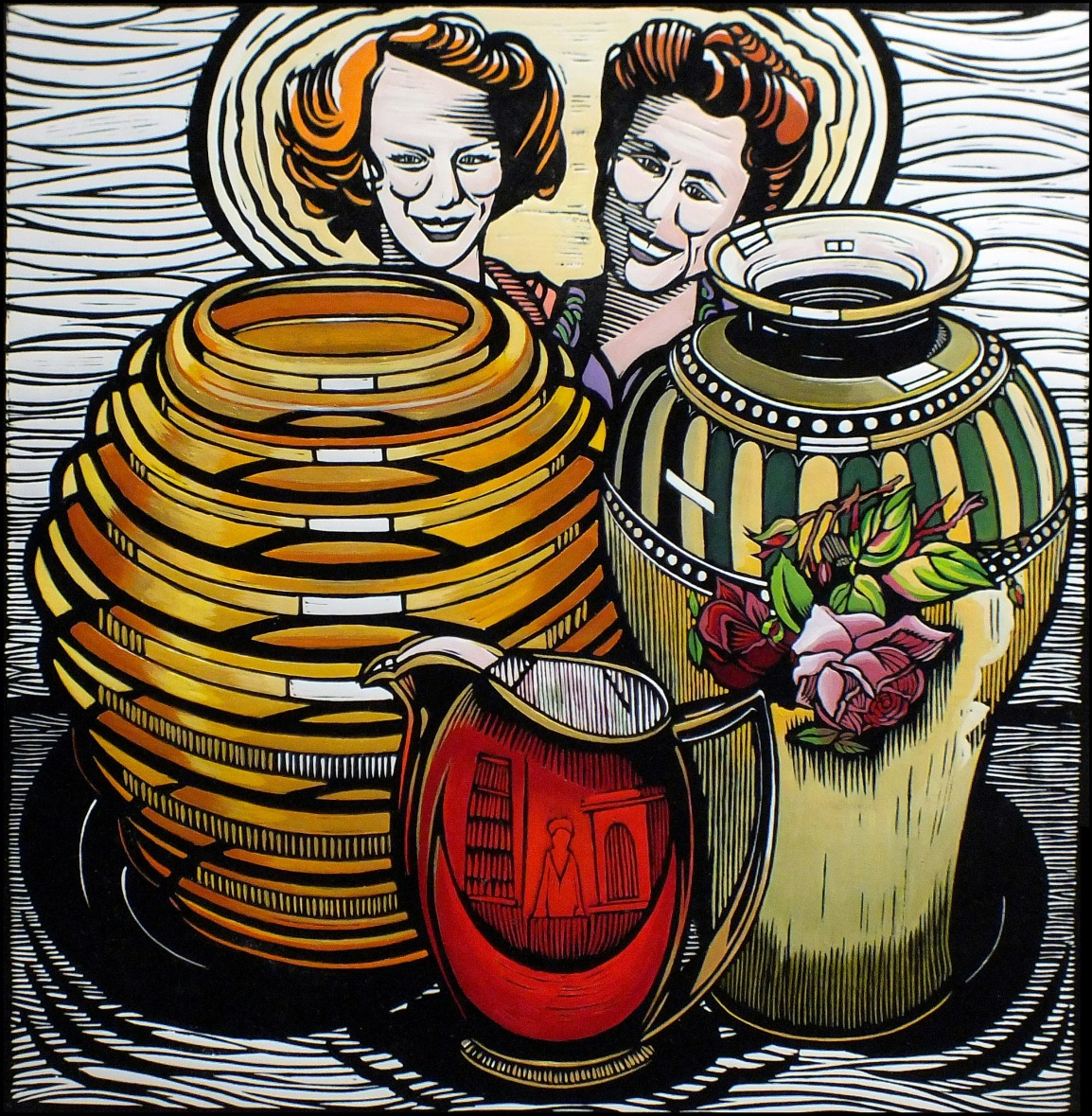 Pat and Joy's Treasures | 70cm w x 70cm h | Not for sale