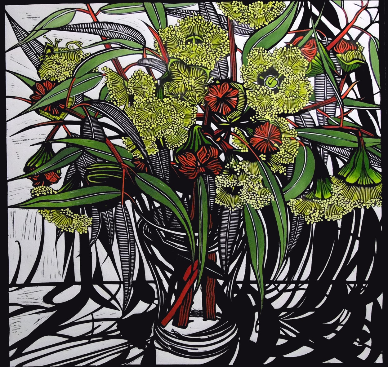 Red-Capped Gum | 80cm w x 80cm h | $900 unframed