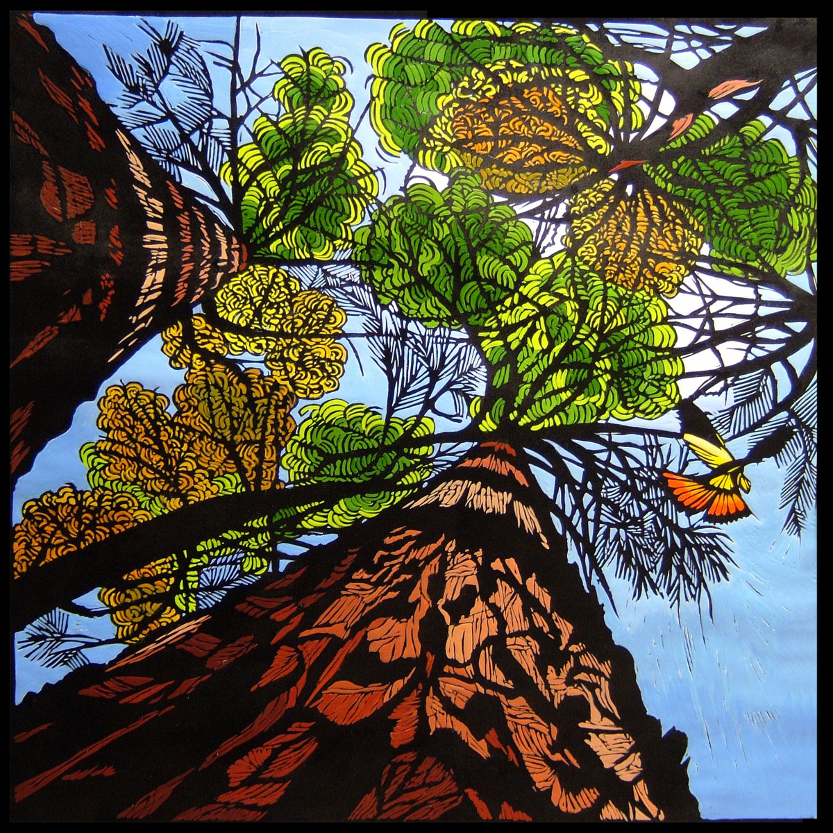 Towards The Forest Canopy | 80cm w x 80cm h | $900 unframed