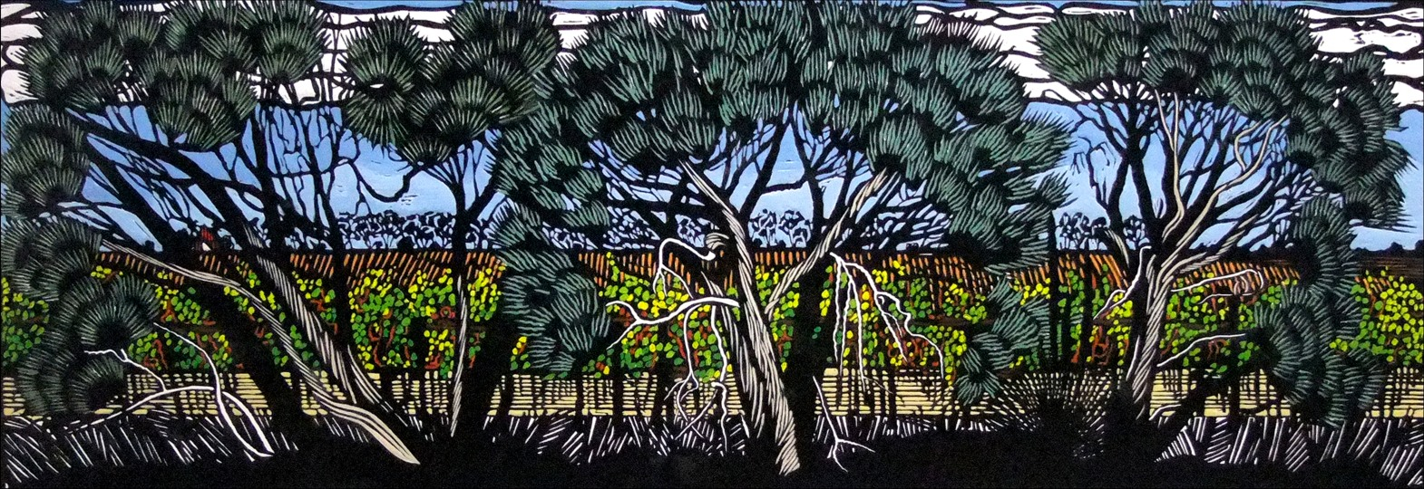 Moonahs in the Vale | 120cm w x 35cm h | $900 unframed