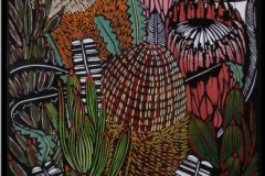 Banksias and Proteas | 35cm w x 120cm h | $750 unframed