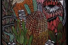 Banksias and Proteas | 35cm w x 120cm h