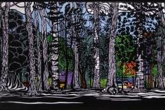 Botanic Pines | 99cm w x 52cm h | $900 unframed