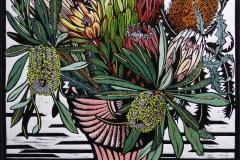 Proteaceae Deco | 60cm w x 55cm h | $500 unframed