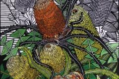 Banksias | 65cm w x 85cm h | $900 unframed