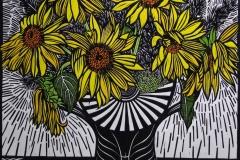 Sunflowers | 70cm w x 70cm h | $450 unframed